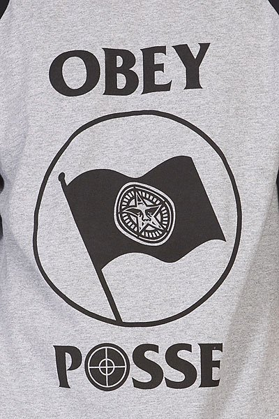 Лонгслив Obey Bandera Heather Grey/Black Proskater.ru 1500.000