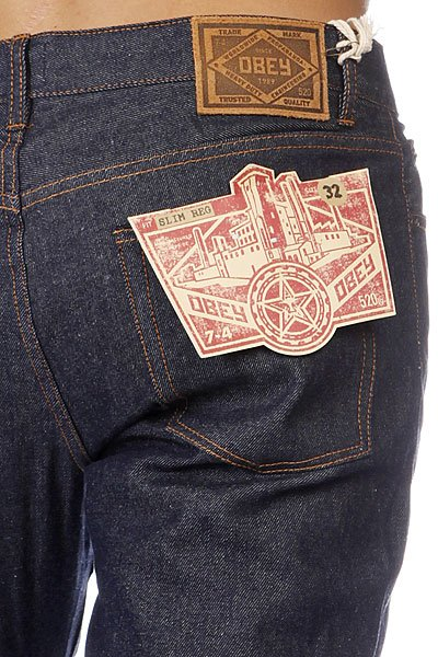 Джинсы Obey Standard Issue Slim Denim Raw Indigo Proskater.ru 3690.000