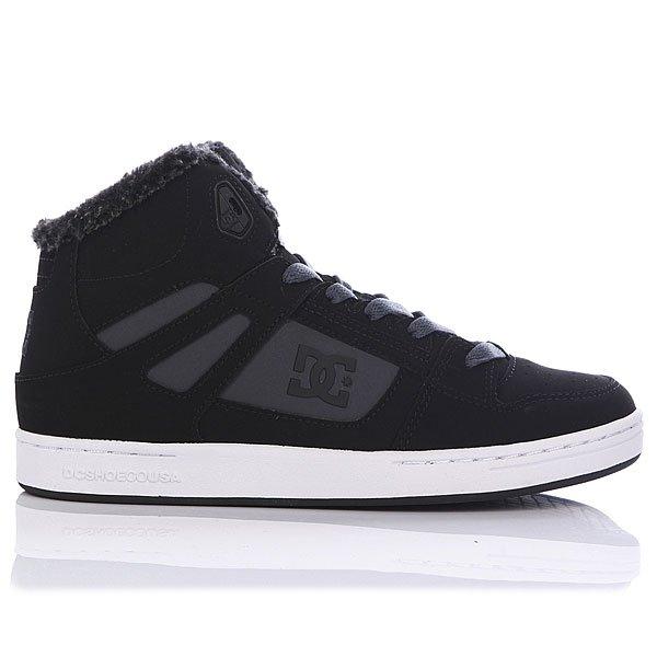 Кеды кроссовки зимние детские DC Shoes Rebound Winter Black/Charcoal Proskater.ru 3450.000