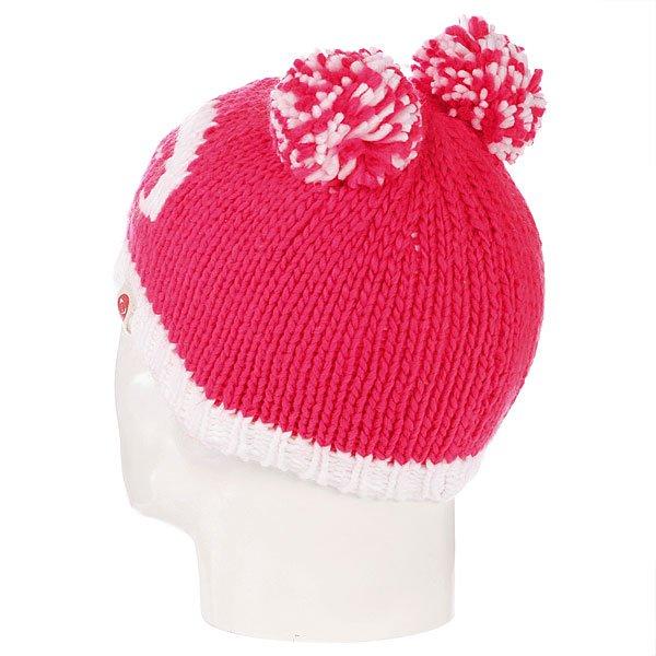 Шапка с помпоном детская Roxy Snow Creek Diva Pink Proskater.ru 990.000