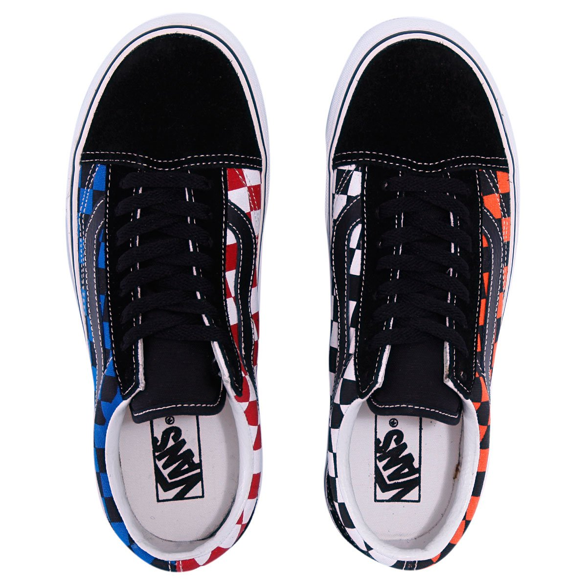 Купить кеды Vans Old Skool Black Flame Snorkel Blue (070711vans151 ... 0781c91189c1e
