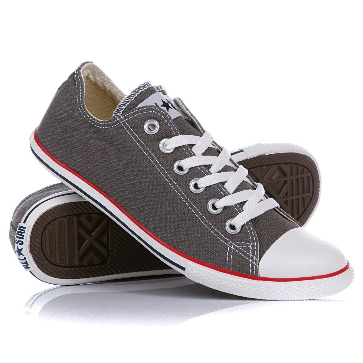 Купить кеды Converse Chuck Taylor Slim Ox Charcoal Red ... 4a399f69d5fdc