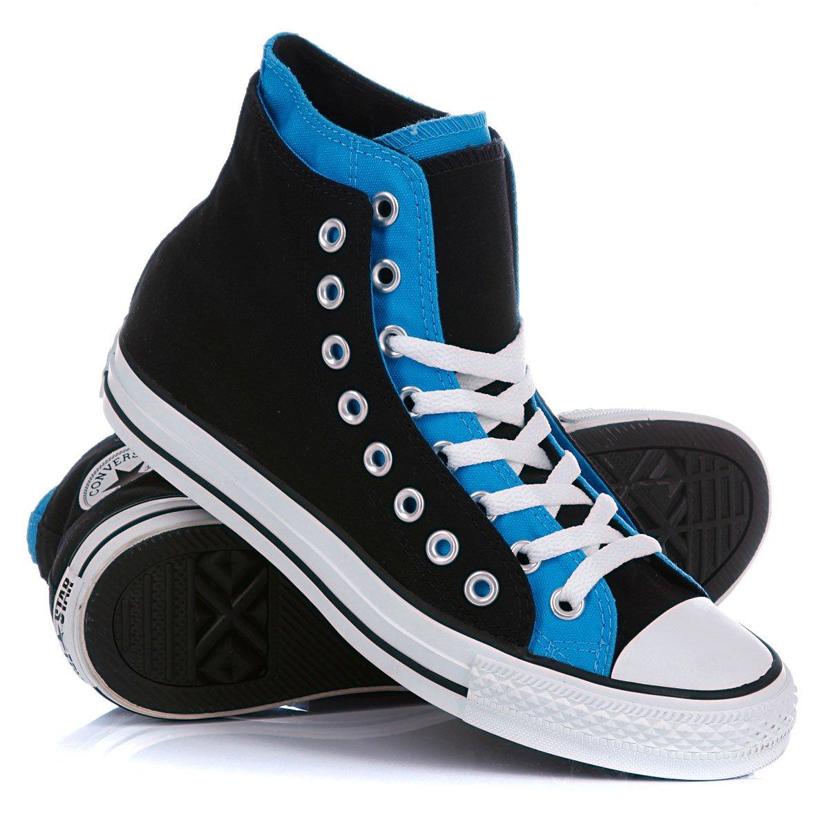 Купить кеды высокие Converse Chuck Taylor Double Upper Hi Black Blue  (250712convv82) в интернет-магазине Proskater.by b4b4cfe0d02
