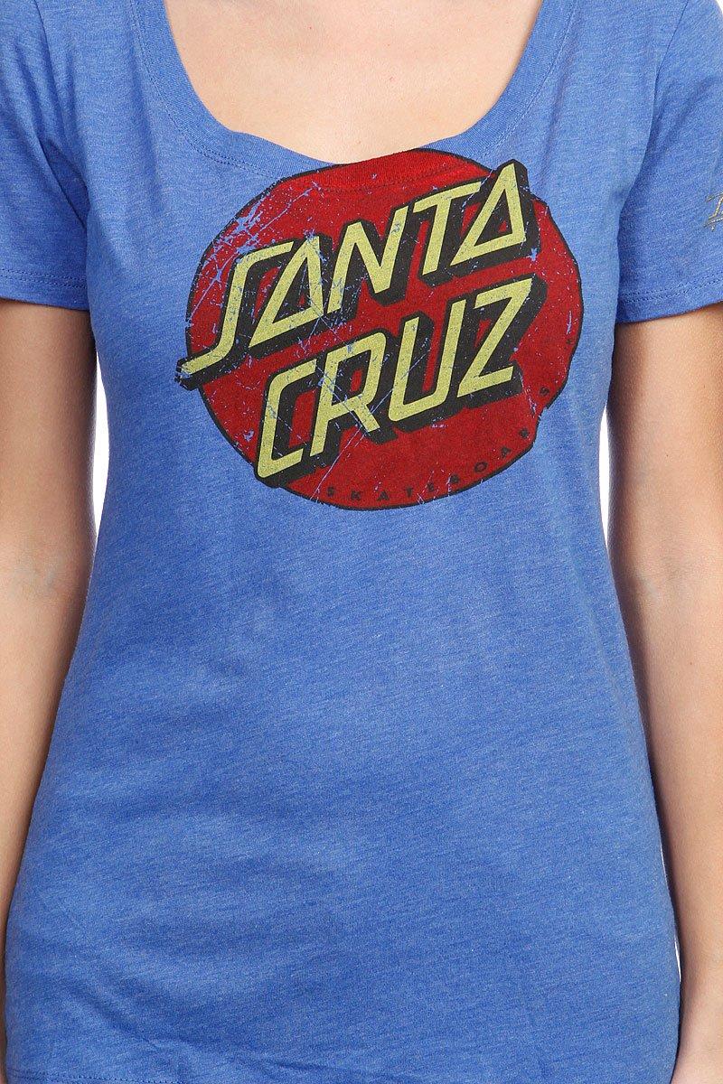 Футболка женская Santa Cruz Vintage Dot Cap Sleeve Vintage Royal Blue