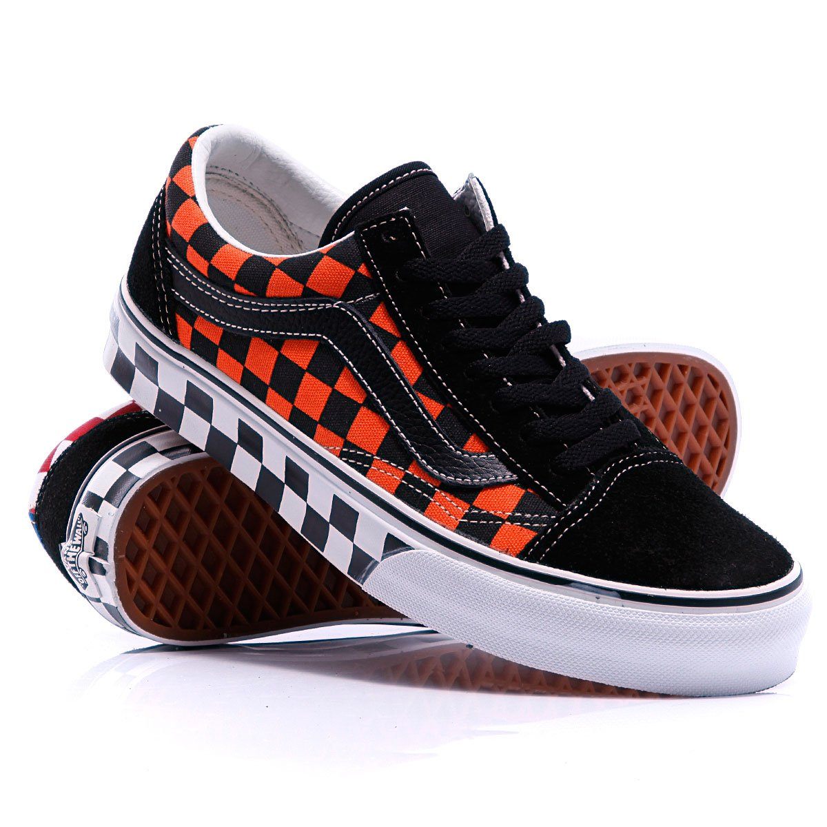 Купить кеды Vans Old Skool Chekerboard Black Blue Flame в интернет-магазине  Proskater.kz 6c9080d65cb