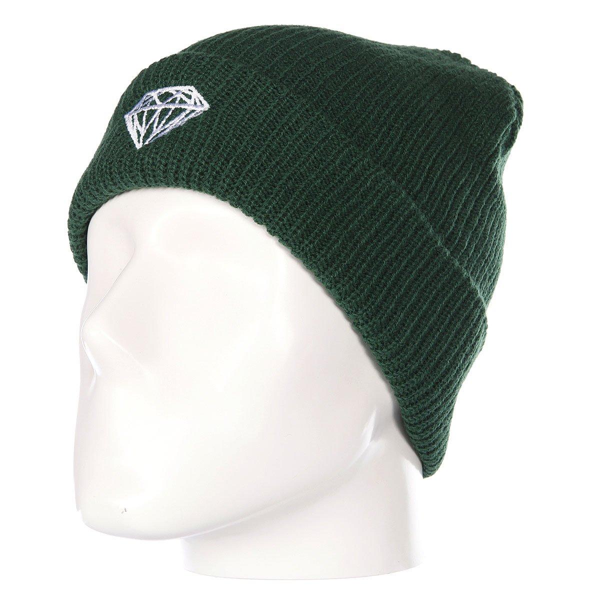 7f775ef5940 Купить шапку Diamond Brilliant Fold Beanie Green в интернет-магазине  Proskater.by