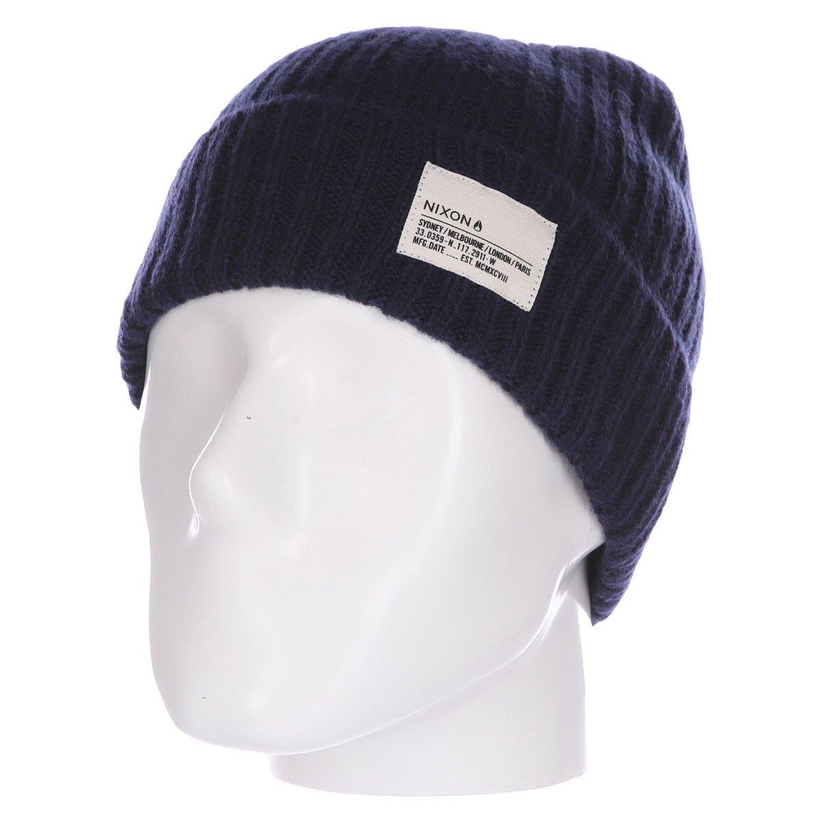 79766603a0a70 Купить шапку Nixon Marshall Beanie Navy Heather в интернет-магазине  Proskater.by
