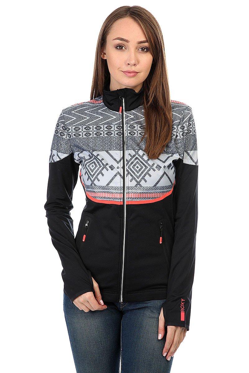 e81c7622c32c Купить толстовку сноубордическая женскую Roxy Priscah True Black  (ERJJK03128-KVJ0) в интернет-магазине Proskater.by