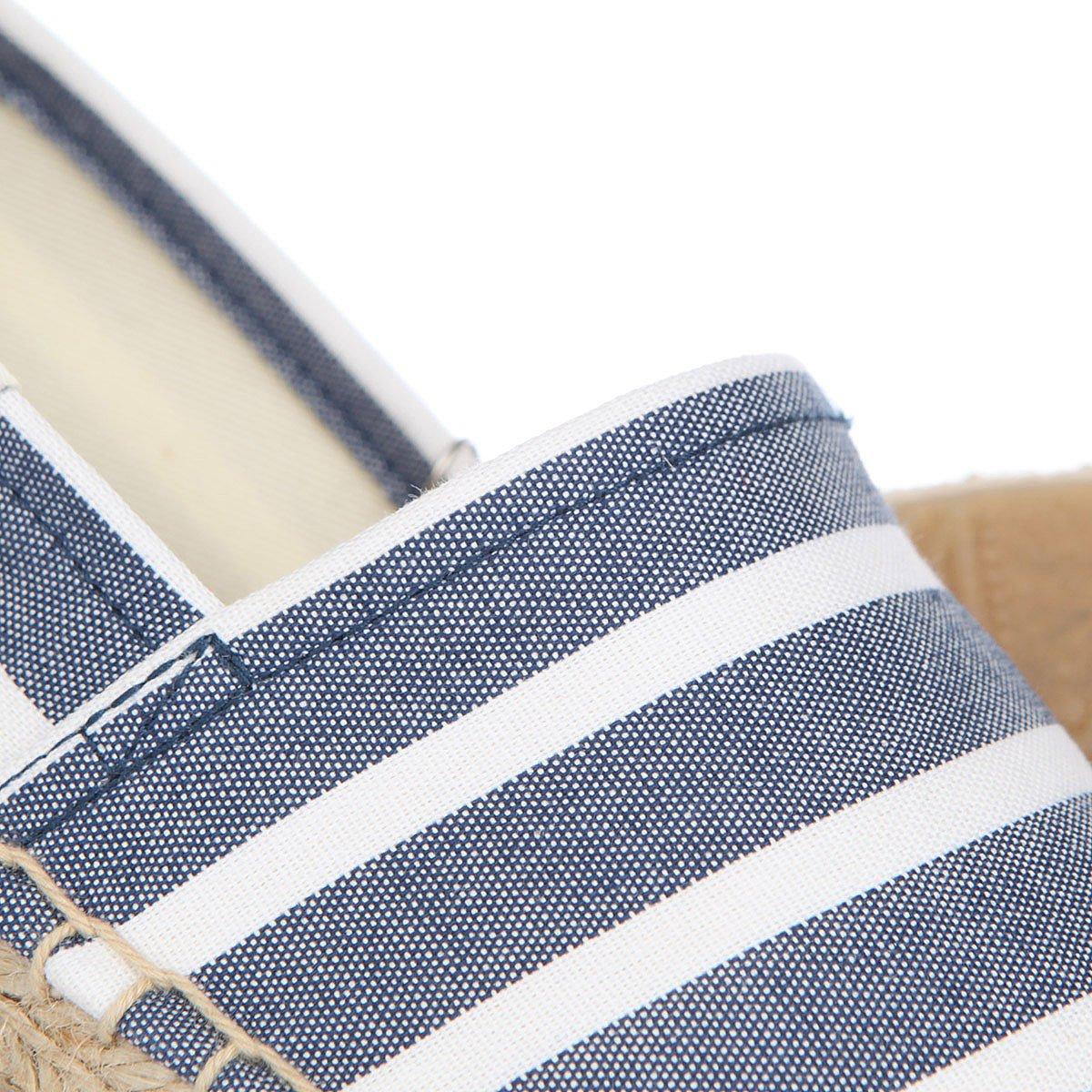 Эспадрильи женские Soludos Original Stripe Print Light Navy/White