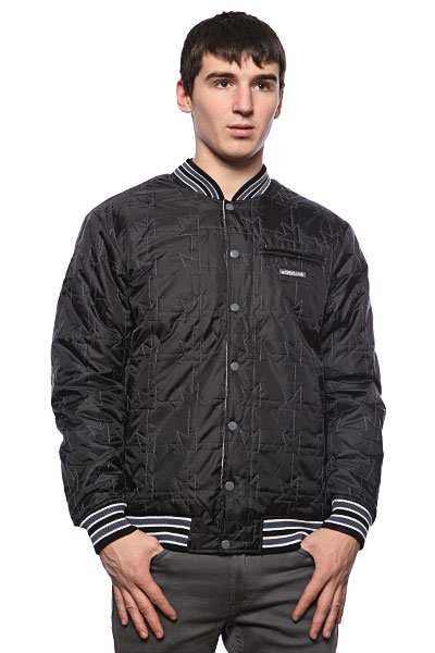 Куртка бомбер Dekline Team Jacket Black/White