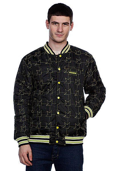 Куртка бомбер Dekline Team Jacket Black/Green