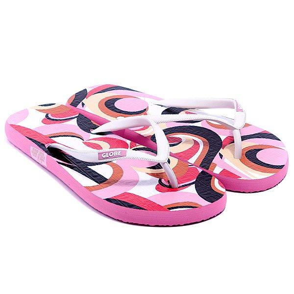 Шлепанцы женские Globe Swirl-Girls Pink<br><br>Цвет: розовый<br>Тип: Вьетнамки<br>Возраст: Взрослый<br>Пол: Женский