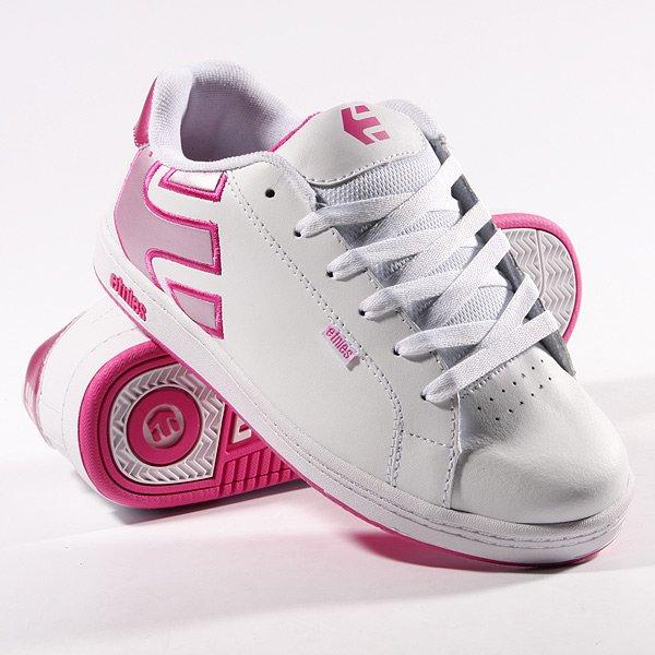 Кеды кроссовки детские Etnies Kids Fader White/Pink/Pink Proskater.ru 1189.000
