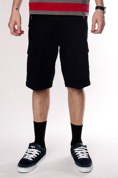 Классические мужские шорты Fallen Thomas Signature Cargo Short Black шорты джинсовые fallen winslow short indigo black