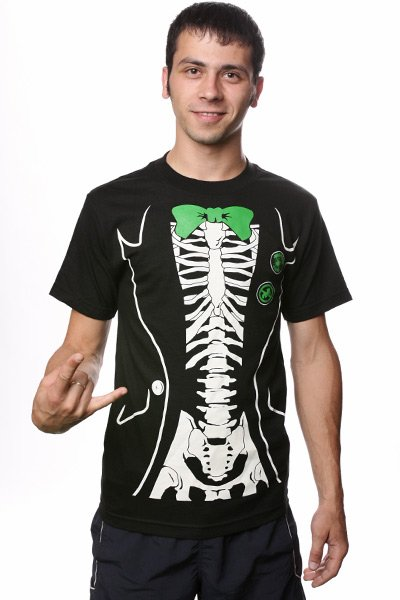 Футболка Creature Skeletux Black<br><br>Цвет: черный<br>Тип: Футболка<br>Возраст: Взрослый<br>Пол: Мужской