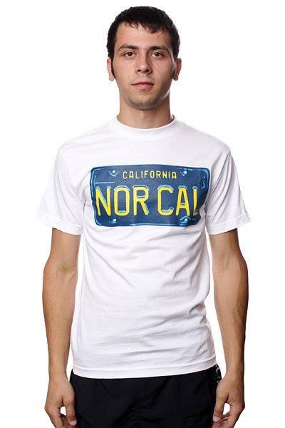 Футболка Nor Cal Plate White<br><br>Цвет: белый<br>Тип: Футболка<br>Возраст: Взрослый<br>Пол: Мужской