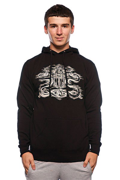 Толстовка Fallen Serpent Pullover Hood Black/White ремень fallen liberty belt white black