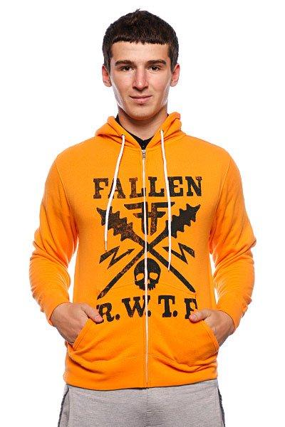 Толстовка Fallen Territory Zip Hood Orange/Black<br><br>Цвет: оранжевый<br>Тип: Толстовка классическая<br>Возраст: Взрослый<br>Пол: Мужской