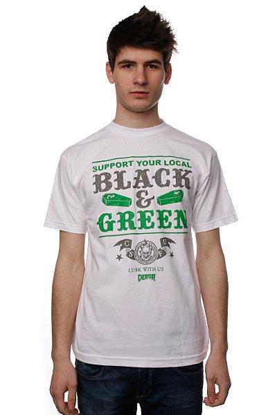 Футболка Creature Black And Green White<br><br>Цвет: белый<br>Тип: Футболка<br>Возраст: Взрослый<br>Пол: Мужской