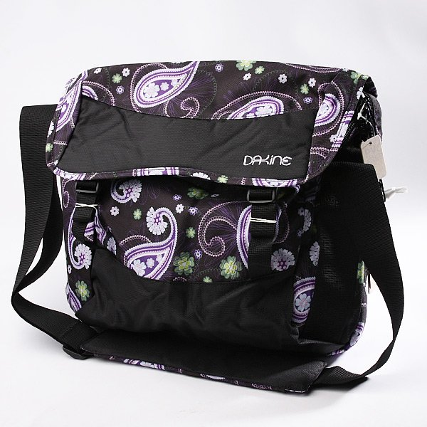 Сумка женская Dakine Girls Messenger Bag Sm Gift/Black<br><br>Цвет: черный,фиолетовый<br>Тип: Сумка<br>Возраст: Взрослый<br>Пол: Женский