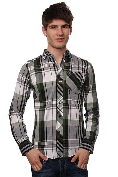 Рубашка в клетку Zoo York Tri-State White<br><br>Цвет: белый,зеленый<br>Тип: Рубашка<br>Возраст: Взрослый<br>Пол: Мужской