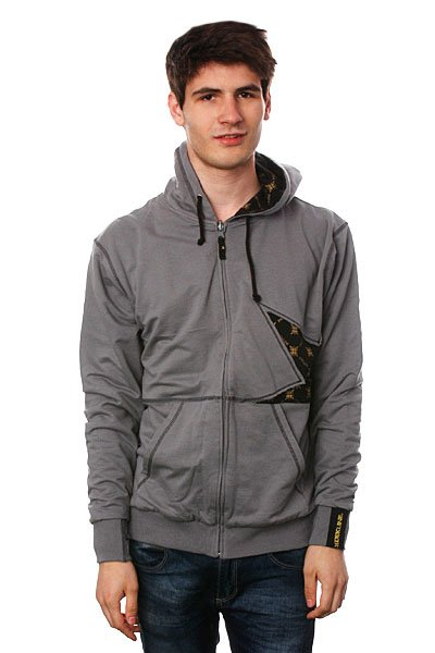 Толстовка Dekline Icon Thorns Zip Grey/Black/Gold