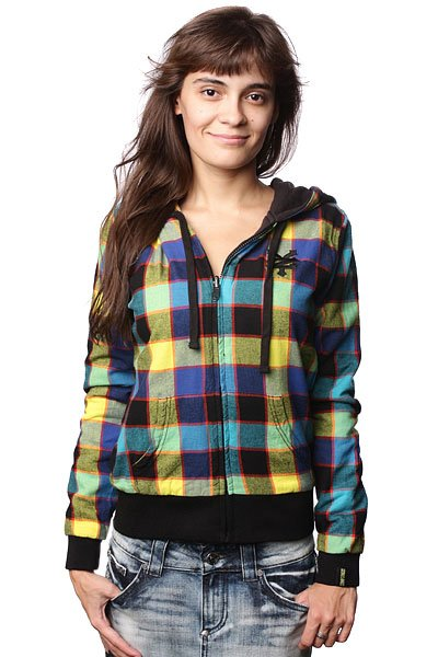 Толстовка женская Zoo York Plaid Revers Black/Blue ada 14 revers