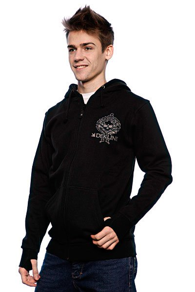 Толстовка Dekline Adams Skull Fleece Black/Grey