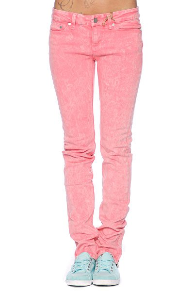 Джинсы узкие женские Insight Skinny Stretch Ankle Biter Pink Acid джинсы узкие женские insight run down skinny crop acid black