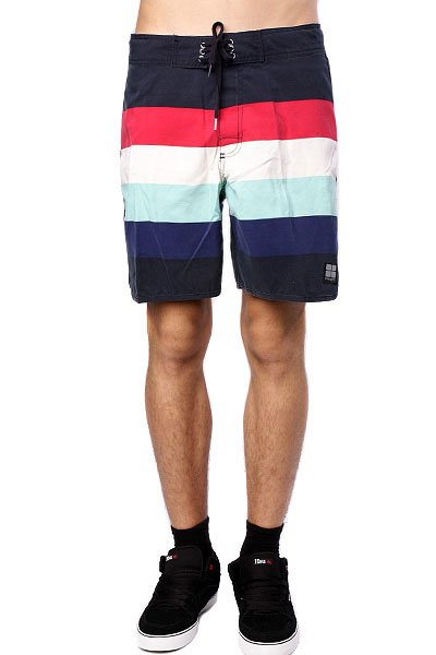 Пляжные мужские шорты Insight Retro Stud Mid Tip Tip Blue<br><br>Цвет: синий<br>Тип: Шорты пляжные<br>Возраст: Взрослый<br>Пол: Мужской