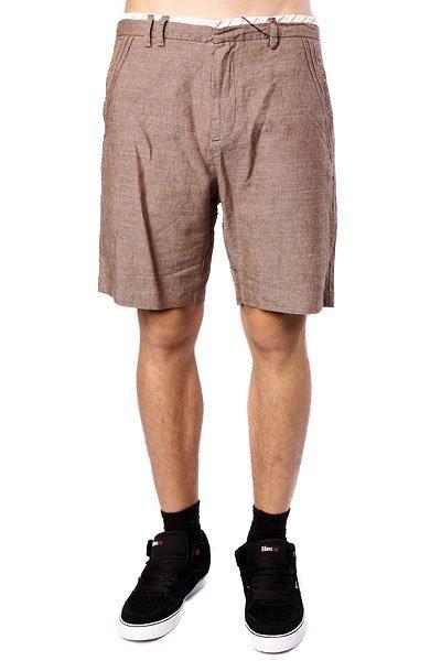 Классические мужские шорты Insight Exiled Brown Slub<br><br>Цвет: коричневый<br>Тип: Шорты классические<br>Возраст: Взрослый<br>Пол: Мужской