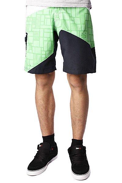 Пляжные мужские шорты Zoo York Geo Boardshorts Verde<br><br>Цвет: белый,зеленый,синий<br>Тип: Шорты пляжные<br>Возраст: Взрослый<br>Пол: Мужской