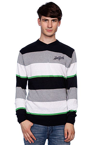 Свитер Zoo York Striped V-Neck Navy
