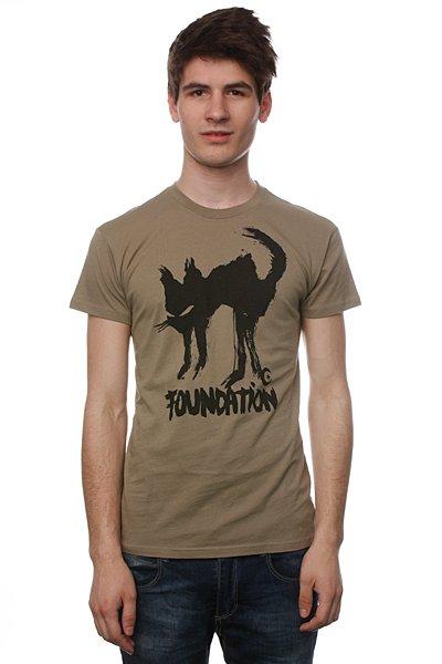 Футболка Foundation F-Ink Cat Light Olive<br><br>Цвет: бежевый<br>Тип: Футболка<br>Возраст: Взрослый<br>Пол: Мужской
