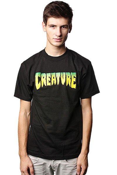 Футболка Creature Logo Black<br><br>Цвет: черный<br>Тип: Футболка<br>Возраст: Взрослый<br>Пол: Мужской
