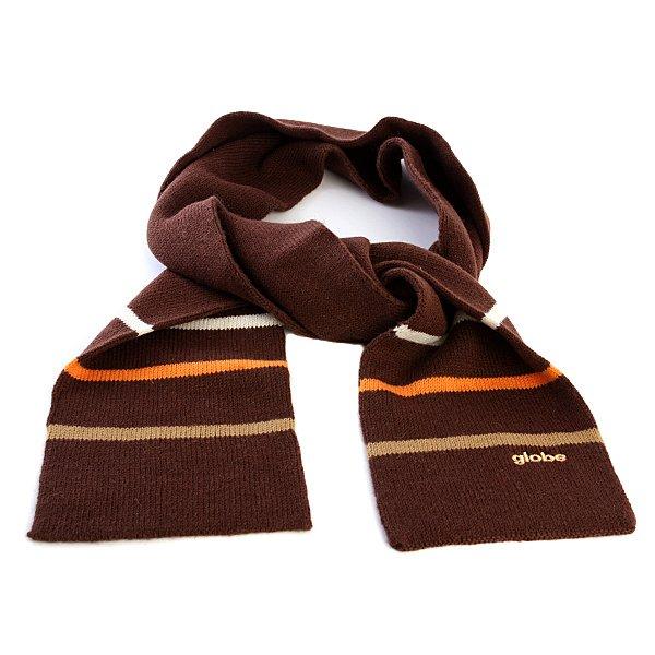 Шарф Globe Tristripe Scarf ChocolateМягкий вязаный шарф из шерсти и акрила в классическом дизайне.Технические характеристики: Классический вязаный шарф.Мягкая и теплая пряжа.Однотонный дизайн с контрастными полосками.Вышитый логотип Globe.<br><br>Цвет: коричневый<br>Тип: Шарф<br>Возраст: Взрослый<br>Пол: Мужской