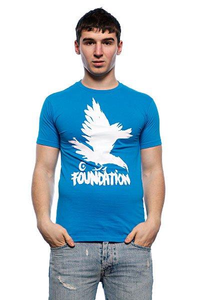 Футболка Foundation F-Ink Crow Turquoise<br><br>Цвет: голубой<br>Тип: Футболка<br>Возраст: Взрослый<br>Пол: Мужской