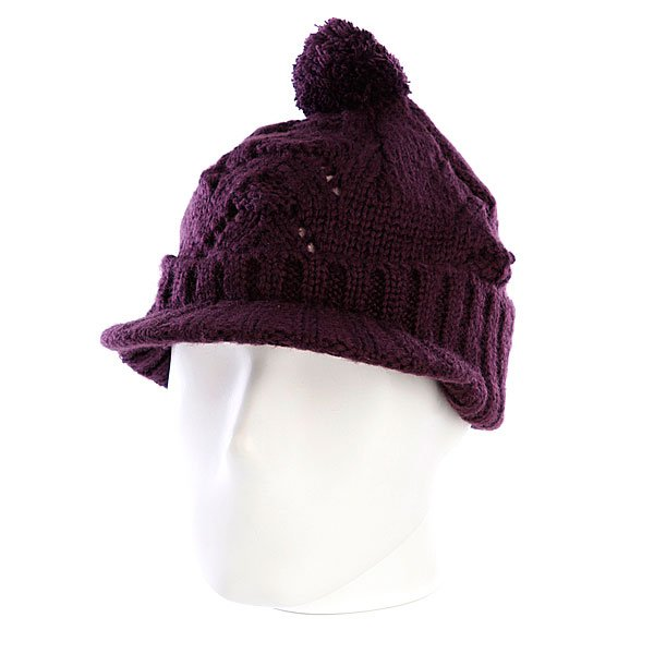 Шапка с помпоном женская Zoo York Lace Knit Cable Hat Potent Purple<br><br>Цвет: фиолетовый<br>Тип: Шапка<br>Возраст: Взрослый<br>Пол: Женский