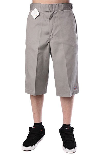 Классические мужские шорты Dickies 15 Work Short W/Cell Phone Pocket Silver Grey