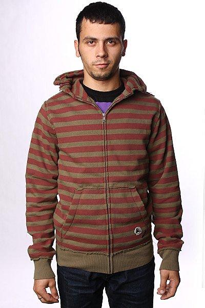 Толстовка Fallen Cobra Hood Fleece Oxblood/Army<br><br>Цвет: бордовый,зеленый<br>Тип: Толстовка классическая<br>Возраст: Взрослый<br>Пол: Мужской