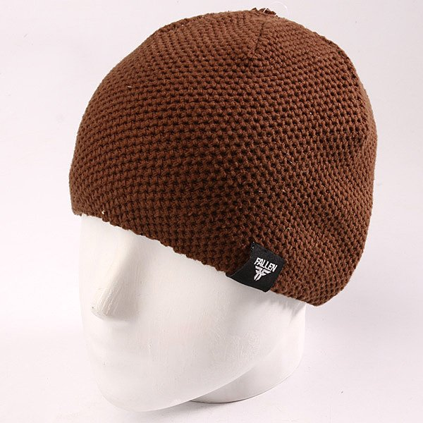 Шапка Fallen Buffalo Knits Beanie Chocolate шапка fallen buffalo striped knits beanie grey oxblood