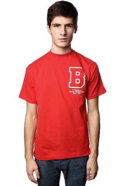 Футболка Plan B Letterman Red<br><br>Цвет: красный<br>Тип: Футболка<br>Возраст: Взрослый<br>Пол: Мужской