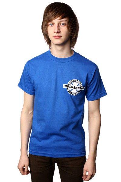 Футболка Independent Btg Chest Royal Blue<br><br>Цвет: синий<br>Тип: Футболка<br>Возраст: Взрослый<br>Пол: Мужской
