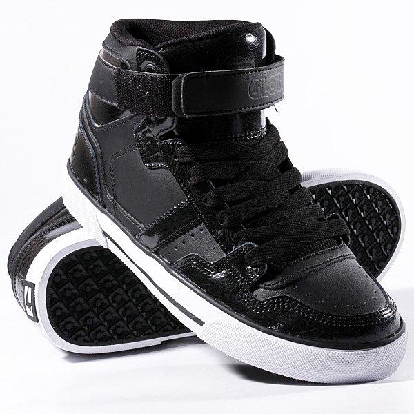 Кеды кроссовки высокие Globe Superfly-Vulcan Black Cracked кеды кроссовки globe focus graphic black leather cross