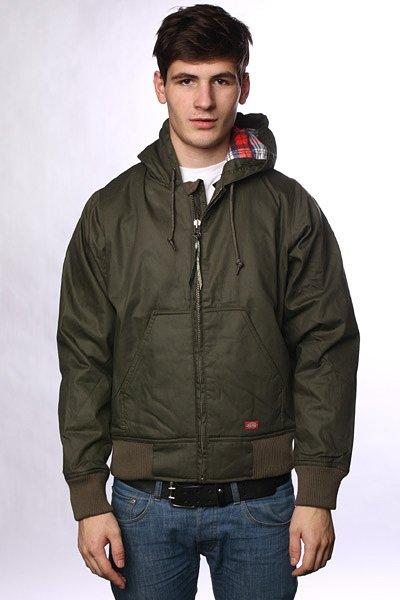 Куртка Dickies Daytona Duck Jacket Dark Olive<br><br>Цвет: зеленый<br>Тип: Куртка<br>Возраст: Взрослый<br>Пол: Мужской