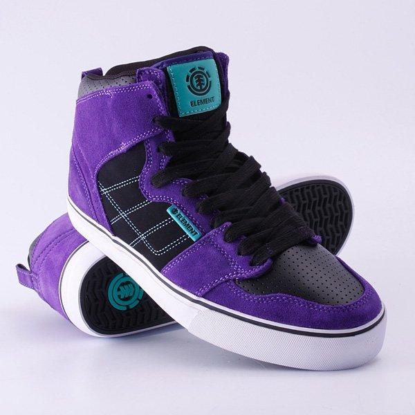 Кеды кроссовки высокие Element Houston Black Purple