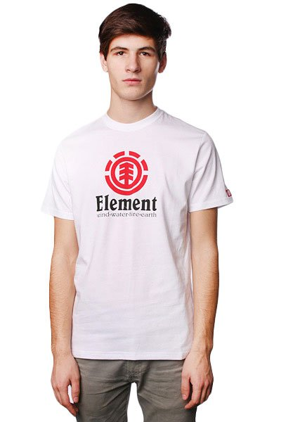 Футболка Element Vertical White футболка element vertical ss ash