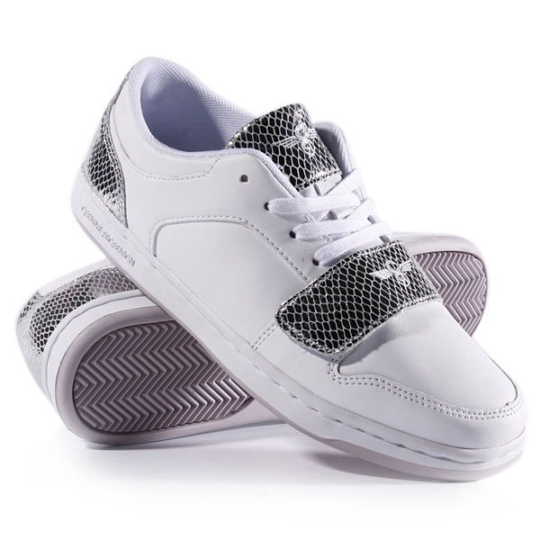 Кеды кроссовки женские Creative Recreation Cesario Lo White Silver Snake Proskater.ru 3409.000
