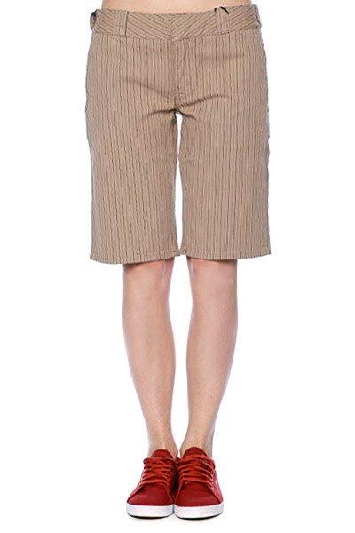 Шорты классические женские Circa Impalita Tan/Black/Pinstripe<br><br>Цвет: бежевый<br>Тип: Шорты классические<br>Возраст: Взрослый<br>Пол: Женский