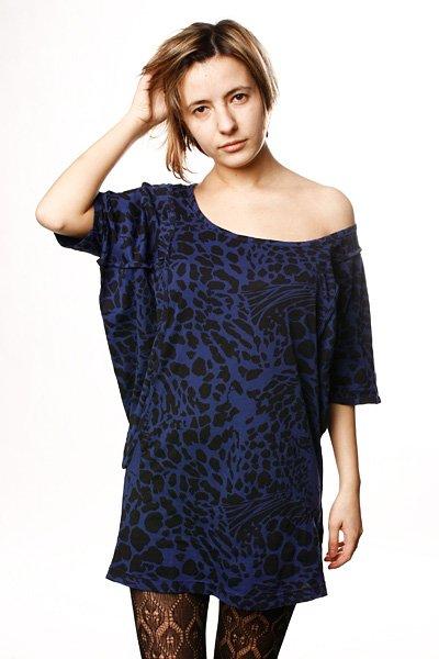 Платье женское Insight Big Cat Dress Navy<br><br>Цвет: синий<br>Тип: Платье<br>Возраст: Взрослый<br>Пол: Женский